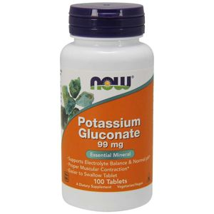 NOW® Foods NOW Potassium Gluconate, 99 mg, 100 tablet
