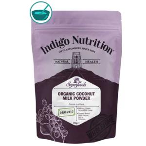 Indigo Herbs Organic Coconut Milk Powder, kokosové mléko v prášku, 250 g