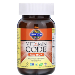 Garden of life Vitamin Code RAW Iron  22 mg (železo) - 30 kapslí