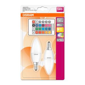 Žárovka OSRAM LED STAR+ 2 ks, závit E14, 4,5 W, teplá bílá (250 lm)