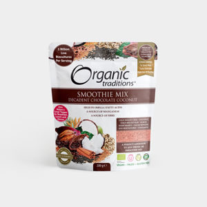 Organic Traditions EcceVita - Smoothie Mix - Decadent Chocolate Coconut - Bio, 200g