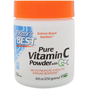 Doctor's Best Vitamin C Powder s Quali-C, prášek, 250 g
