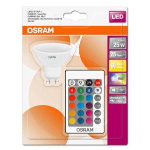Ledvance Žárovka OSRAM LED STAR+, patice GU10, 4,5 W, stmívatelná, barevná (250 lm, RGB)