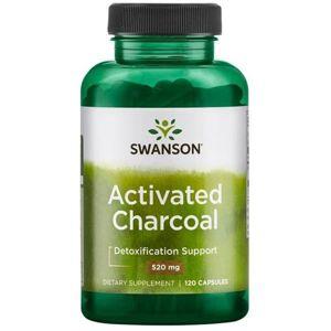 Swanson Aktivní uhlí (Activated Charcoal), 520 mg, 120 kapslí