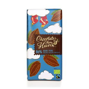 Chocolates from Heaven - BIO hořká čokoláda Peru 80%, 100g