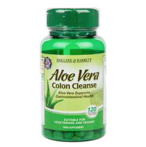 Holland & Barrett Holland&Barrett Aloe vera Colon Cleanse (zdraví střev), 330 mg, 120 tablet