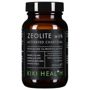 KIKI Health - Zeolite With Activated Charcoal (Zeolit s aktivním uhlím), 360 mg 100 kapslí