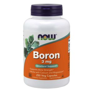 NOW® Foods NOW Boron (bor), 3 mg, 250 kapslí