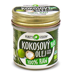 PURITY VISION - RAW Kokosový olej BIO, 120ml