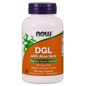 NOW® Foods NOW DGL + Aloe Vera, 400 mg, 100 rastlinných kapsúl