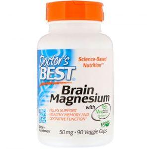 Doctor's Best Doctor's Best Brain Magnesium, 50 mg, 90 rostlinných kapslí
