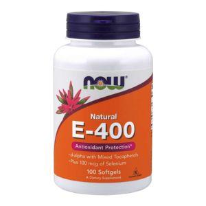 NOW® Foods NOW Vitamin E 400 IU with Selenium, 100 softgelových kapslí