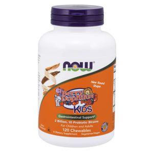 NOW® Foods NOW BerryDophilus Kids (probiotika pro děti), 120 žvýkacích pastilek